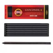 Уголь искусственный для рисования KOH-I-NOOR Gioconda средней мягкости 6 шт 8673002005PK