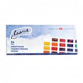 Краски акварельные художественные Ладога 24 цвета по 2,5 мл 2041026