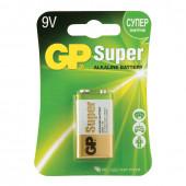 Батарейка алкалиновая GP Super 6LR61 (Крона) 1 шт 1604A-BC1 (453561)