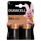 Батарейки алкалиновые Duracell Basic LR14 (С) 2 шт (450428)