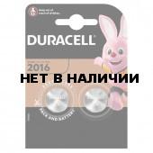 Батарейки литиевые Duracell Lithium CR2016 2 шт (454658)