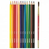 Карандаши цветные акварельные Гамма Лицей 12 цветов + кисть 221118_02