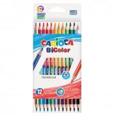 Карандаши цветные трехгранные двусторонние Carioca BiСolor 24 цвета 12 шт 42991