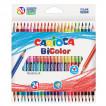 Карандаши цветные трехгранные двусторонние Carioca BiСolor 48 цветов 24 шт 43031