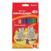 Карандаши цветные трехгранные Гамма Мультики 18 цветов 050918_08