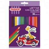 Карандаши цветные пластиковые Пифагор Жираф 36 цветов 181332