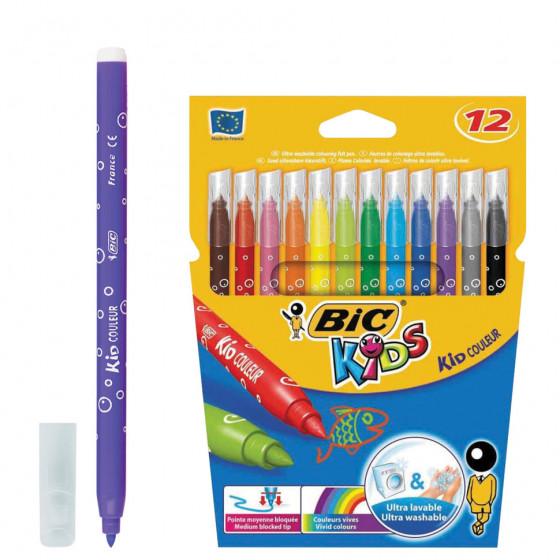 Фломастеры суперсмываемые Bic Kid Couleur 12 цветов 9202932