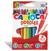 Фломастеры суперсмываемые Carioca Doodles 24 цвета 42315