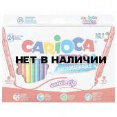 Фломастеры суперсмываемые двухсторонние Carioca Birello 24 цвета 41521