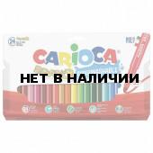 Фломастеры суперсмываемые утолщенные Carioca Bravo 24 цвета 42763