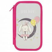 Пенал школьный Пифагор Moon Bunny 2 отделения 229157