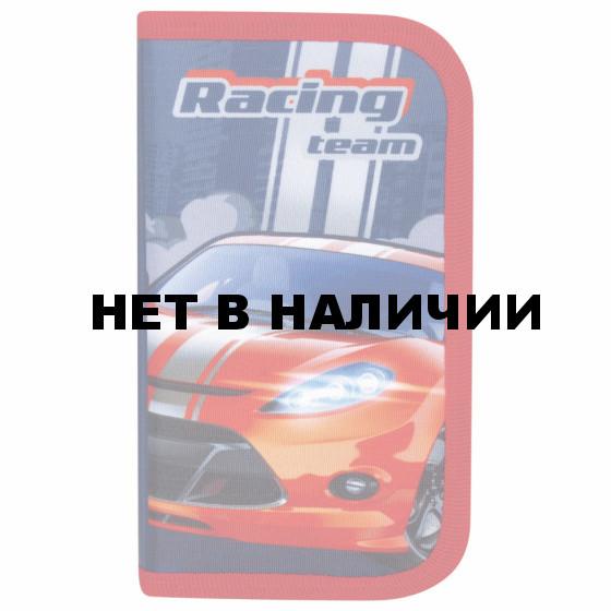 Пенал школьный Юнландия Racing Team 2 отделения 229159