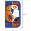 Пенал школьный Юнландия Sports Ball 2 отделения 229158