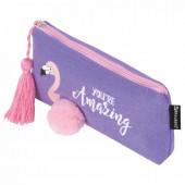 Пенал косметичка Brauberg Flamingo 229001
