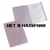 Обложка для автодокументов Befler Гипюр из натуральной кожи фиолетовая BV.38.-1