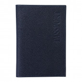 Обложка на паспорт Befler Грейд из натуральной кожи синяя O.1.-9