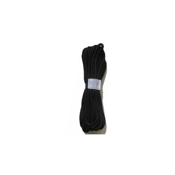 Шнур универсальный с сердечником (полипропилен) 5,0мм (10м)(черный)