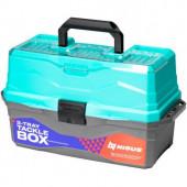 Ящик для снастей Nisus Tackle Box трехполочный бирюзовый N-TB-3-Т