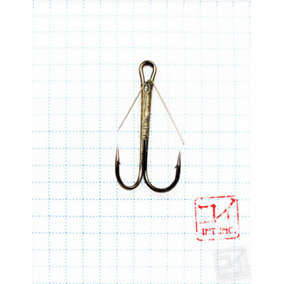 Крючок Koi Weedless Double Hook № 1, BN, двойник незацепляйка (5 шт.) KH2325-1BN