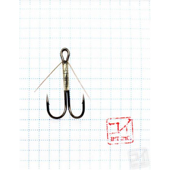 Крючок Koi Weedless Double Hook № 2, BN, двойник незацепляйка (5 шт.) KH2325-2BN