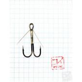 Крючок Koi Weedless Double Hook № 6, BN, двойник незацепляйка (5 шт.) KH2325-6BN
