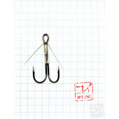 Крючок Koi Weedless Double Hook № 8, BN, двойник незацепляйка (5 шт.) KH2325-8BN