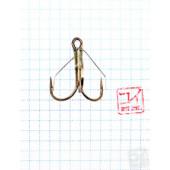 Крючок Koi Weedless Treble Hook № 1/0, BN, тройник незацепляйка (5 шт.) KH2335-1/0BN