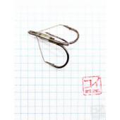 Крючок Koi Weedless Treble Hook № 2/0, BN, тройник незацепляйка (5 шт.) KH2335-2/0BN