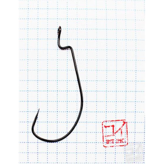 Крючок Koi Wide Range Worm № 4/0, BN, офсетный (10 шт.) KH6221-4/0BN