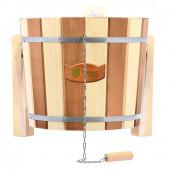 Обливное устройство для бани Банные Штучки Контраст с клапаном, липа 16 л 32422