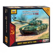 Сборная модель Звезда Основной советский танк Т-72Б (1:100) 7400