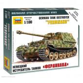 Сборная модель Звезда САУ немецкая Фердинанд (1:100) 6195