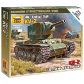 Сборная модель Звезда Тяжелый советский танк КВ-2 (1:100) 6202