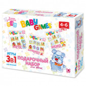 Подарочный набор настольных игр Origami Baby Games Для девочек 3в1 00279