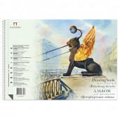 Альбом для рисования А4 Palazzo Петербургские тайны 40 листов, 160 г/м2, на спирали АЛПт/А4