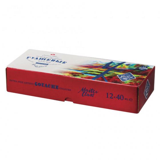 Гуашь художественная Мастер-класс 12 цветов по 40 мл 1741010