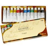 Краски масляные художественные Гамма Студия 12 цветов по 9 мл 203007