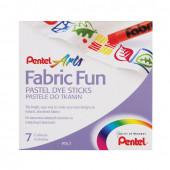 Пастель для ткани Pentel Fabric Fun 7 цветов PTS-7
