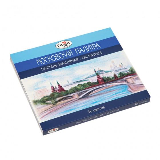 Пастель масляная Гамма Московская палитра 36 цветов круглое сечение 0.60.К036.103