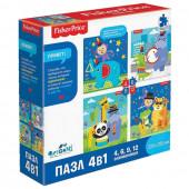 Пазл для детей Origami Fisher Price Музыка 4 в 1, 4/6/9/12 элементов 04660