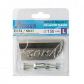 Ножи для ледобура Тонар Скат ЛР-150L левое вращение NLS-150L.SL