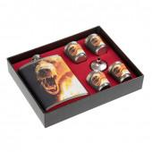 Фляжка и набор стопок Helios Настоящему мужику Медведь 240 мл HS-N-RM-B-A21