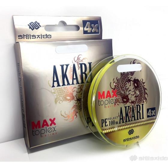 Шнур плетеный Shii Saido Akari 4X, 150 м, 0,272 мм, до 11,33 кг, yellow SBLA150-4X-27