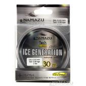 Леска Namazu Ice Generation, 30 м, 0,20 мм, до 3,20 кг, прозрачная NIG30-0,20