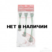 Набор поводков сталь/нейлон Namazu зел, 15/20/25 см, до 23 кг по 20 шт N-17LSG45-S60