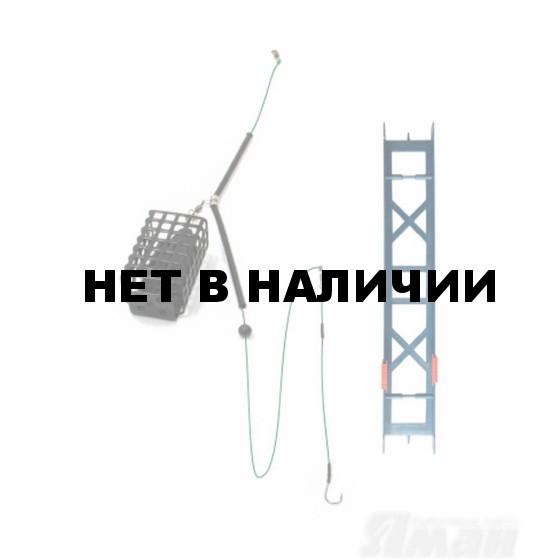 Оснастка фидерная Яман Лещ, кормушка 40 г, шнур 0,15 мм, крючок №8 Я-ОЛ-40-015-8