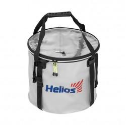 Ведро складное с крышкой Helios 45х40см ПВХ (HS-АТ-035-45)