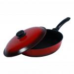 Сковорода антипригарная с крышкой Силумин Люкс 1,3л d200 (ЛС20тpк)