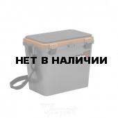 Ящик рыболовный зимний Helios односекционный 19л серый/золото (HS-IB-19-GGo-1)