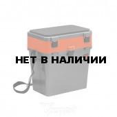 Ящик рыболовный зимний Helios двухсекционный 19л серый/оранжевый (HS-IB-19-GO)